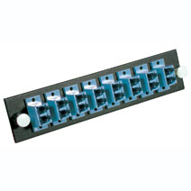 Cables To Go 31124 Q-SERIES 12-STRAND LC DUPLEX ZIRCONIA INSERT SM  BLUE LC ADAPTER PANEL