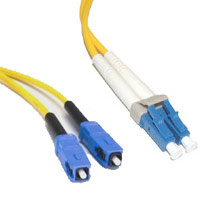 Cables To Go 34502 6m LC-SC PLENUM-RATED DUPLEX 9-125 SINGLE-MODE FIBER PATCH CABLE - YELLOW