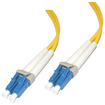 Cables To Go 34558 30m LC-LC PLENUM-RATED DUPLEX 9-125 SINGLE-MODE FIBER PATCH CABLE - YELLOW