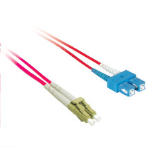 Cables To Go 33355 1m LC-SC DUPLEX 9-125 SINGLEMODE FIBER PATCH CABLE - RED CTG498