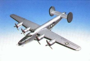 Daron Worldwide Trading A1272 B24J Liberator Silver 1/72 Scale AIRCRAFT