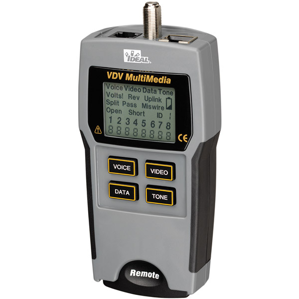 IDEAL 33-856 VDV Multimedia Voice  Data and Video Tester