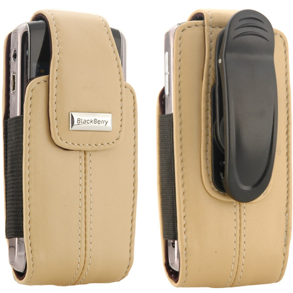 Belt Pouch - Blackberry 81693RIM Blackberry Leather Vertical Pouch With Belt Clip For Pearl 8100