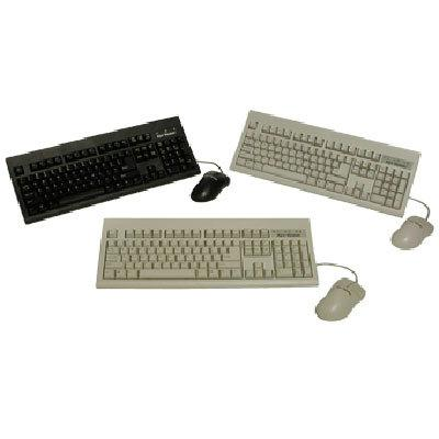Keytronic Inc. KT800U2M Keyboard w/Opt Mouse USB blac
