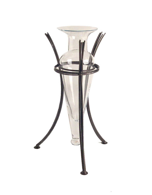 Danya B MC750-C Vase on Wire Stand H: 13.5 Inch