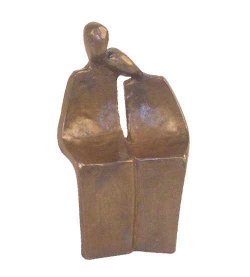 Danya B ZD6361 Abstract Couple Mini Bronze Figure 5.5-Inch