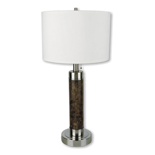 00ore31112 26 Inch Cylinder Table Lamp - Walnut Finish