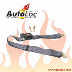 Autoloc SB2PCH 2 Point Charcoal Lap Seat Belt (1 Belt)