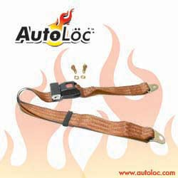 Autoloc SB2PPE 2 Point Peach Lap Seat Belt (1 Belt)