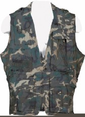 Safari Jacket - Humvee HMV-VS-C-M Humvee Safari Vest Camo Medium