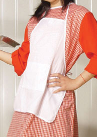 Dress Up America White Apron (kids) Size 12 216-12