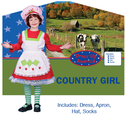 Adorable Country Girl Costume Large 12-14 230-L