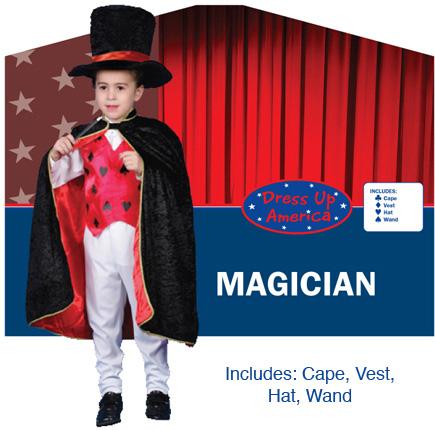 Deluxe Magician Dress up Costume Set Medium 8-10 232-M