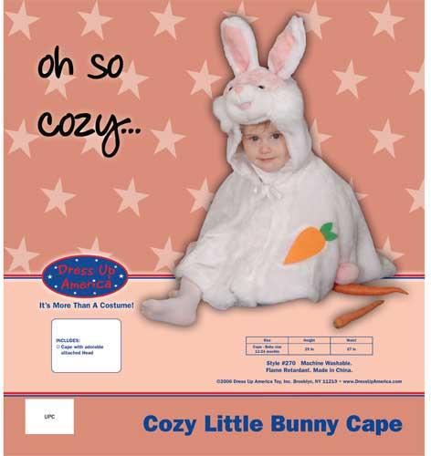 Cozy Little Bunny Cape Costume Set Cape 12-24 mo. 270-C