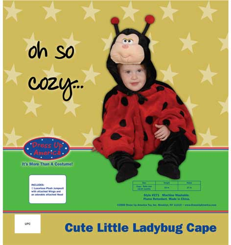 Cute Little Ladybug Costume Set Size 2 271-2