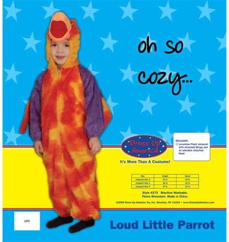 Loud Little Parrot Costume Set Size 6 273-6