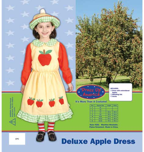 Deluxe Apple Dress Costume Large 12-14 281-L