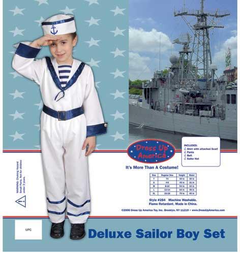 Deluxe Sailor Boy Set Costume Set X-Large 16-18 284-XL