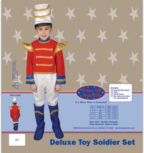 Toy Soldier Set Costume Set Large 12-14 293-L