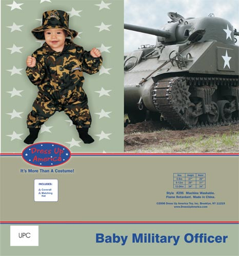 Dress Up America Baby Military Officer Costume Set 0-9 mo. 296-9M