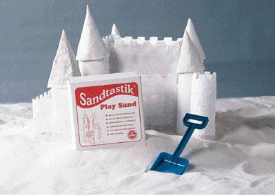 SANDTASTIK SND025 SANDTASTIK WHITE PLAY SAND-25LB BOX
