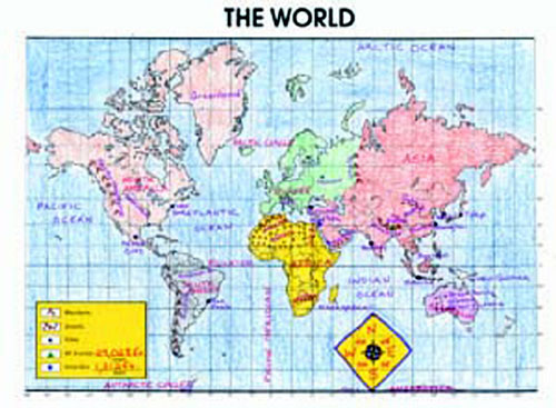 MCDONALD PUBLISHING MC-M236 ACTIVITY POSTERS THE WORLD-GR. 4-8 30/SET