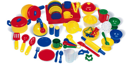 LEARNING RESOURCES LER9157 PRETEND & PLAY KITCHEN SET-70 PIECES