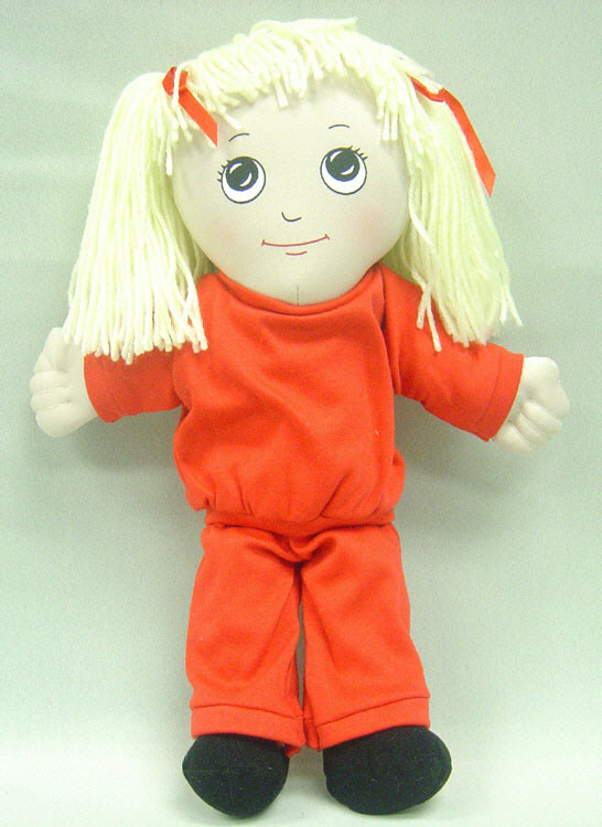 FANNYS PLAY HOUSE FPH729 DOLLS WHITE GIRL DOLL-SWEAT SUIT