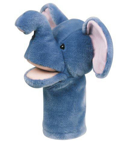 MT & B CORPORATION MTB209 PLUSHPUPS HAND PUPPET ELEPHANT