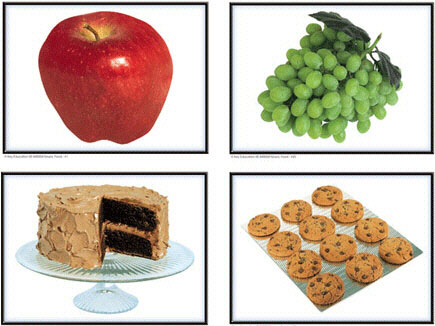 CARSON DELLOSA KE-845004 PHOTOGRAPHIC LEARNING CARDS NOUNS:-FOOD