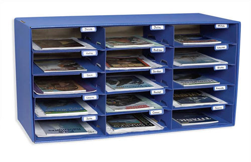 PACON CORPORATION PAC1308 MAIL BOX - 15 MAIL SLOTS BLUE