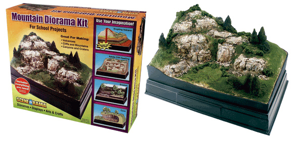 Scene A Rama SP-4111 Scene-A-Rama Mountain Diorama Kit