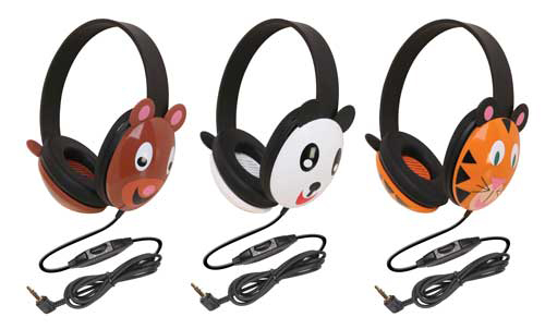 Califone International CAF2810TI Listening First Animal-Themed Stereo Headphones Tiger