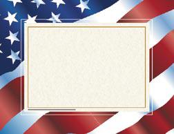 Hayes School Publishing H-VA651 Stars Fn Stripes Certificate Border/Computer Paper