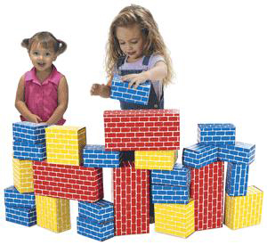 Smart Monkey IMA1024 Imagibricks Giant Building Blocks 24 Piece Set