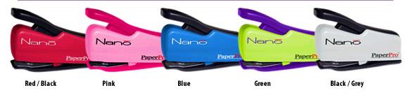 Paper Pro Accentra Inc PPR1813 Paperpro Nano Miniature Stapler Pink