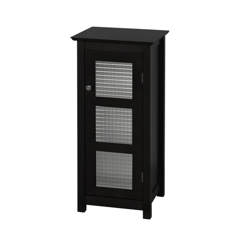 Elegant Home Fashions 6216 Chesterfield Floor Cabinet  1 glass door - Espresso