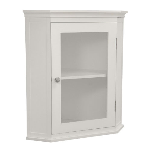 Elegant Home Fashions 7084 Madison Avenue Corner Wall Cabinet
