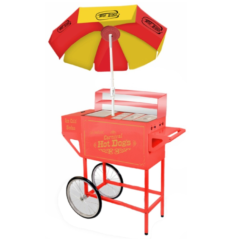 Nostalgia Electrics HDC-701 Carnival Hot Dog Cart with Umbrella