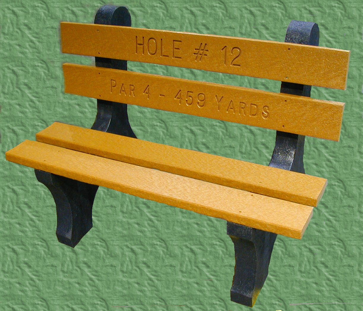 Engineered Plastic Systems TSB4 Trail 4ft  Side Bench in Cedar -  with Plastic Legs