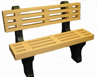 Engineered Plastic Systems DB4 4 ft Designer Bench in Cedar