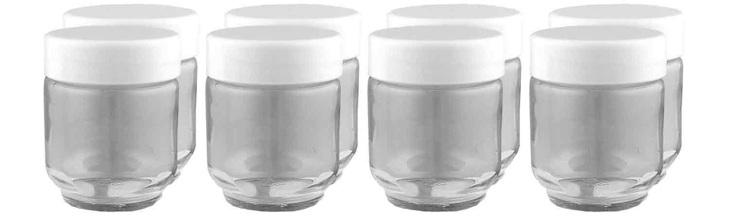 Euro Cuisine GY1920 Yogurt Jars for Euro Cuisine Yogurt Maker - 8 Piece