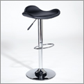 Euro Style 04371 Romero Adjustable Bar-Counter Stool- Black-Chrome