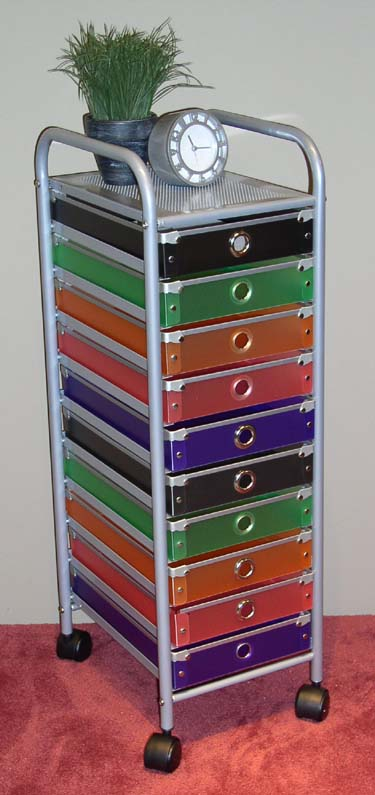 4D Concepts 363013 10 Drawer Rolling Storage - Multi