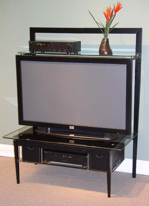 4D Concepts 83160 Entertainment Stand - Black/Metal