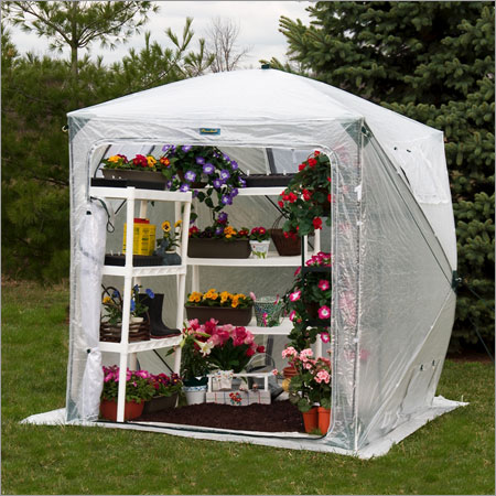 Flower House FHOH400 OrchidHouse Greenhouse Greenhouse, Hoop House, Grow House, High Tunnel, Hothouse, Plant House, Grow Tunnel, Garden Supplies
