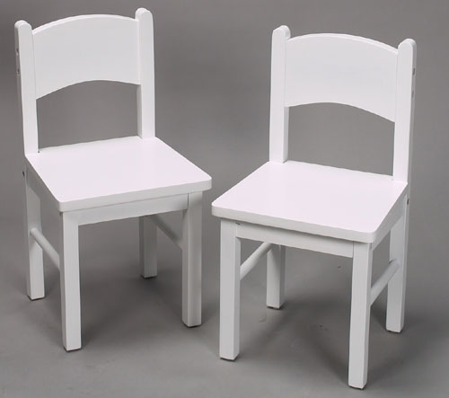 Giftmark 1408W Solid Wood Chair Set White Extra Chairs To Go With 1406W Set
