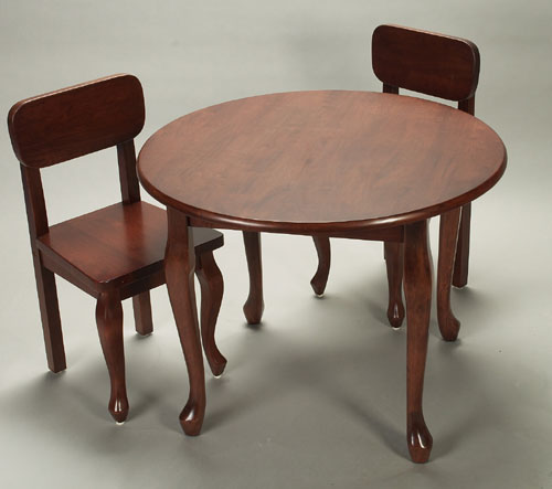 Giftmark 3003C Solid Wood 2 Queen Anne Chair Set Cherry Extra Chairs To Go with 3000C Set