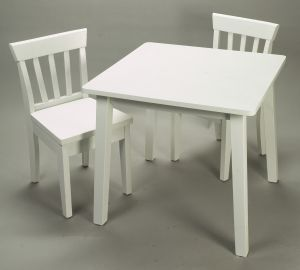 Giftmark 4530W Solid Wood 2 Chair Set White Extra Chairs To Go with 4525W Set