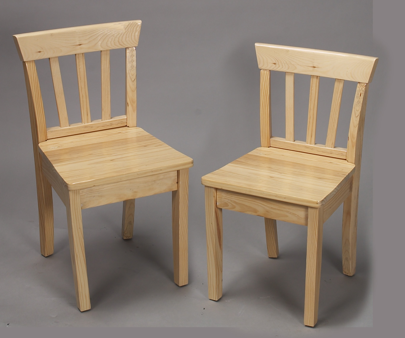 Giftmark 4530N Solid Wood 2 Chair Set Natural Extra Chairs to go with 4525N Set